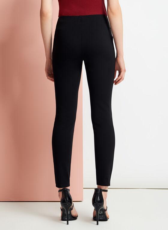 Leggings en similicuir à l'avant, Noir, hi-res
