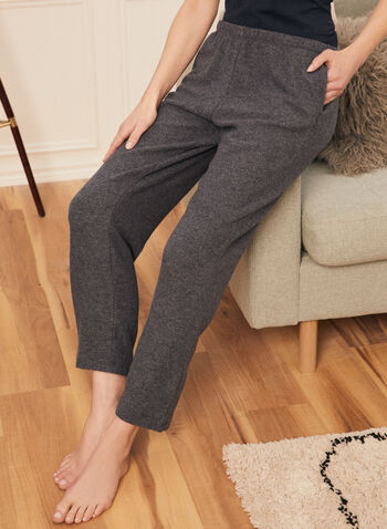 Sweater Knit Pull-On Pants, Blue,  pants, pull-on, soft, sweater, knit, ankle, pockets, fall winter 2020