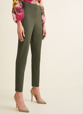 Pantalon coupe cité à jambe droite, Vert,  pantalon, cité, jambe droite, longueur cheville, coton, printemps été 2020