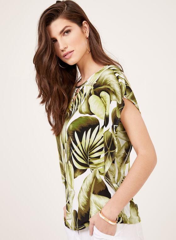 Drop Shoulder Sleeve Poncho Blouse, Green, hi-res