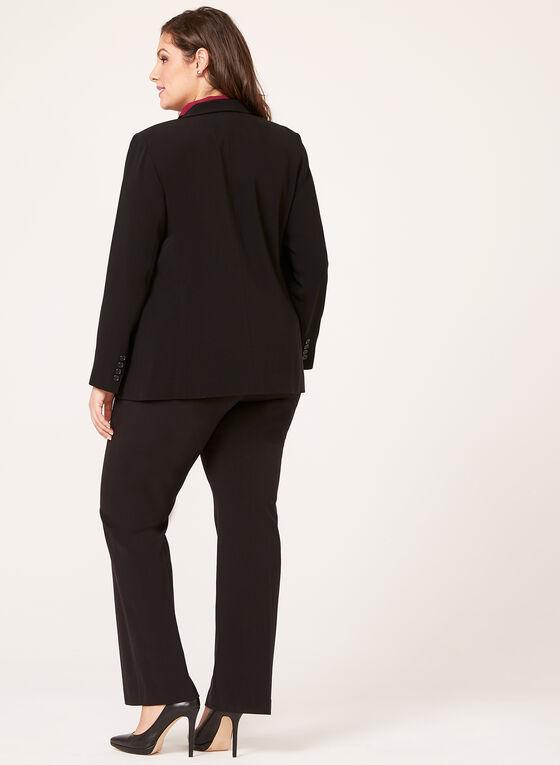 Louben - Veste tailleur à col cranté surpiqué, Noir, hi-res