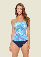 Christina - Multi Print One-Piece Swimsuit, Blue