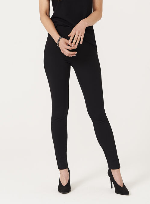 Pull On Knit Leggings , Black, hi-res