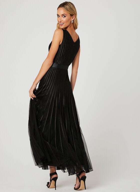 Ribbon Detail Mesh Dress, Black