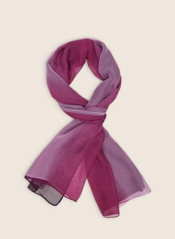 Ombré Lightweight Scarf, Purple,  scarf, lightweight, ombré, chiffon, spring summer 2020