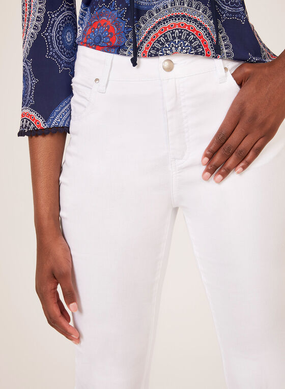 Simon Chang - Signature Fit Slim Leg Capris, White, hi-res