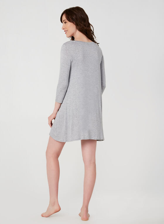 Pillow Talk - ¾ Sleeve Nightgown, Grey