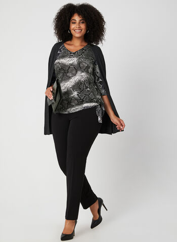 Snakeskin Print Top, Grey, hi-res,