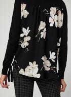 Pull motif floral au dos , Gris, hi-res