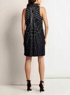 Robe géométrique texturée à col froncé , Noir, hi-res