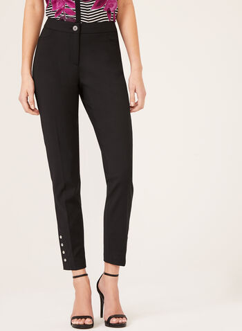 Modern Fit ⅞ Slim Leg Pants, Black, hi-res