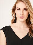 Sleeveless Fit & Flare Dress, Black, hi-res