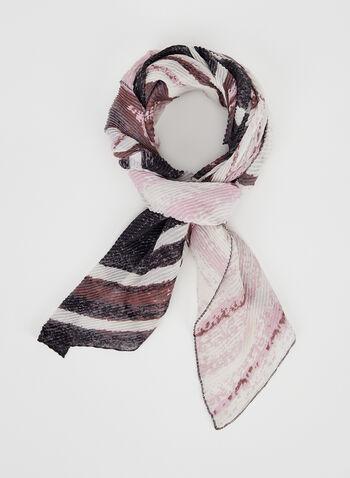 Printed Ombré Scarf, Pink, hi-res