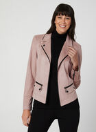Faux Suede Jacket, Purple