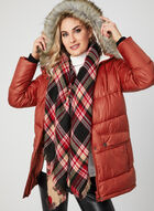 Marcona - Faux Down Quilted Coat , Orange, hi-res