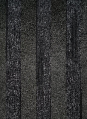 Stripe Print Satin Wrap, Black, hi-res