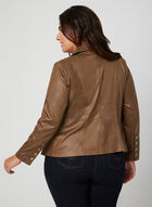 Faux Leather Jacket, Brown, hi-res