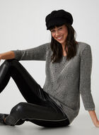 V-neck Rib Sweater, Grey