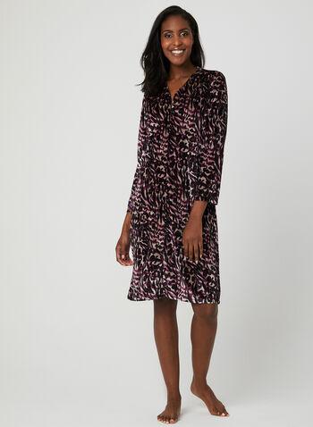 Velour Nightgown, Purple, hi-res