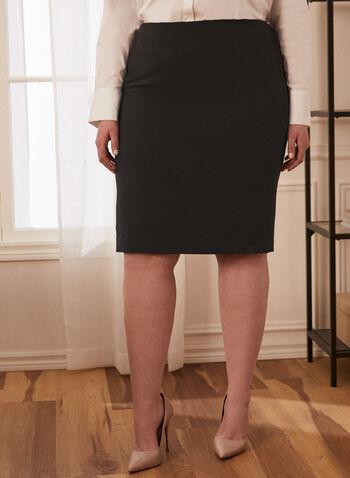 Jupe droite classique, Noir,  jupe, droite, automne hiver 2020