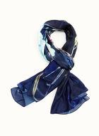 Foulard léger à imprimé floral, Bleu, hi-res