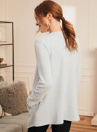 Long Sleeve Knit Cover-Up, Blue