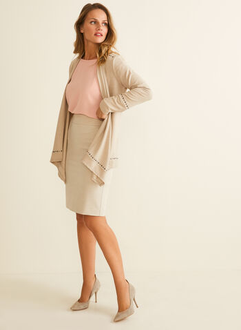 Jupe tailleur à coupe droite, Blanc cassé,  printemps été 2020, jupe, jupe tailleur, jupe crayon, ajustée, bi-stretch