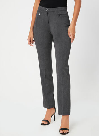 Signature Fit Straight Leg Pants , Grey,  bi-stretch, stretchy, high rise, trouser, tailored, workwear, fall 2019, winter 2019
