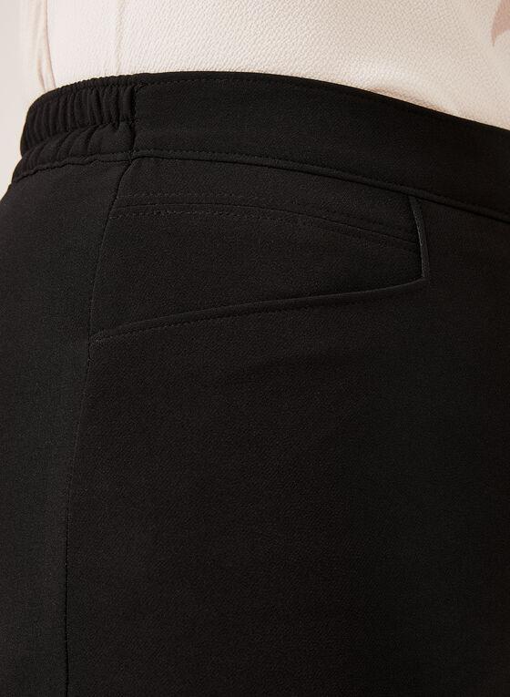 Pantalon pull-on coupe signature à jambe droite, Noir, hi-res