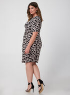 Ring Print Jersey Dress, Black