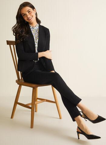 Veste ajustée à zips décoratifs, Noir,  printemps été 2020, veste, blazer, zip, manches longues, ajusté, point de Rome