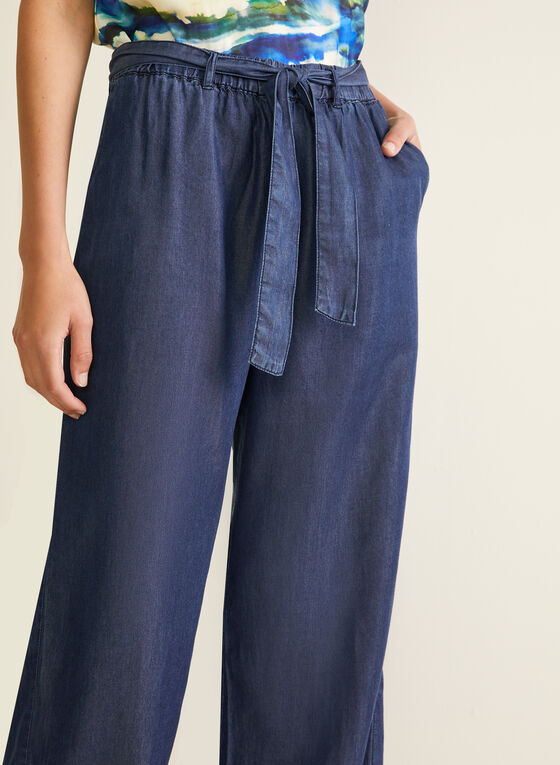 Tencel Wide Leg Pants, Blue