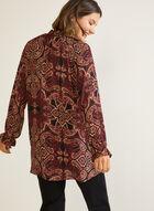 Paisley Print Tunic Blouse, Black