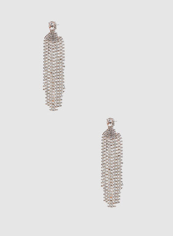Crystal Chandelier Earrings, Gold, hi-res,  earrings, spring 2019