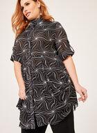 Lindi - Tunique à effet plissé et manches en mousseline, Noir, hi-res
