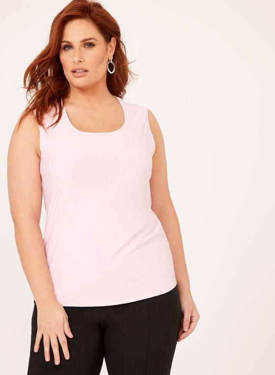 Scoop Neck Sleeveless Top, Pink, hi-res