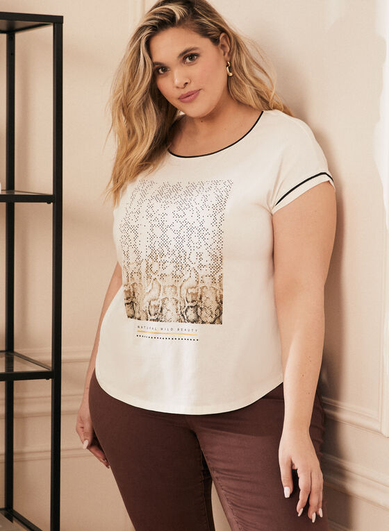 Animal Appliqué T-Shirt, White
