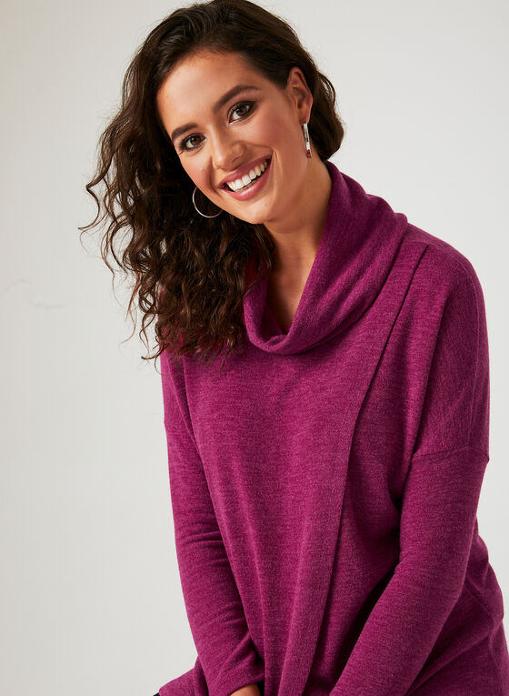Linea Domani - Knit Drape Neck Top, Pink, hi-res