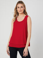 Sleeveless Crepe Blouse, Red, hi-res