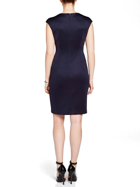 Wave Stripe Sheath Dress, Blue, hi-res