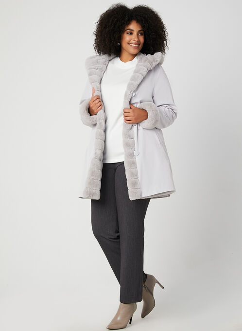Nuage - Reversible Hooded Coat, Silver