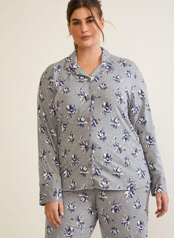 Ensemble pyjama à motif, Gris,  automne hiver 2020, pyjama, ensemble