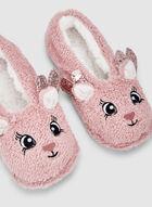 Reindeer Slippers, Pink