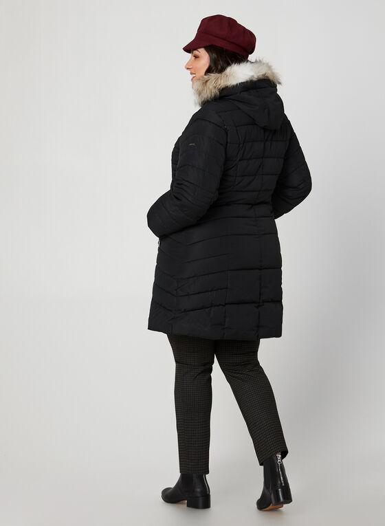 Novelti - Manteau mi-long matelassé à capuchon, Noir