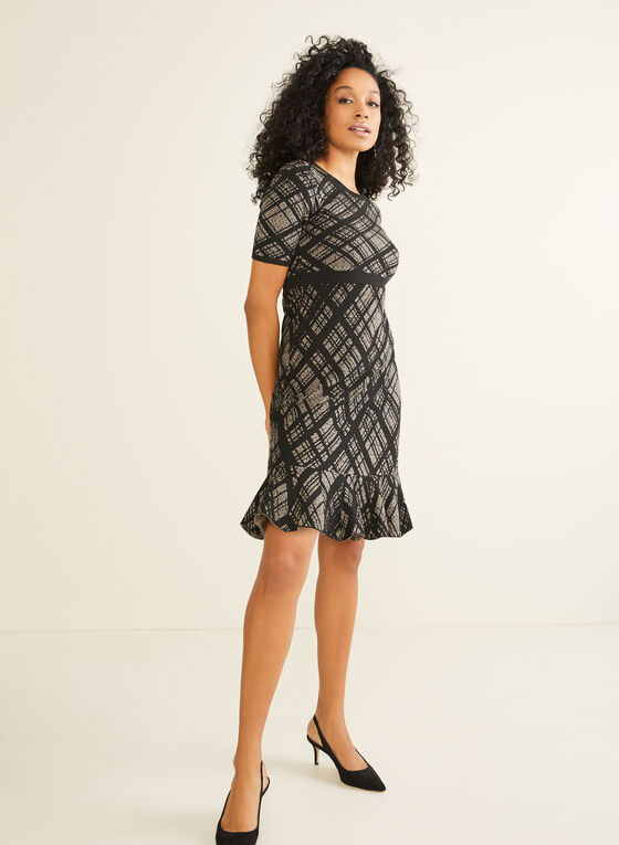 Nina Leonard - Diamond Plaid Dress, Black