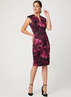 Flower Print Scuba Dress, Pink, hi-res