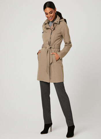 BCBGeneration - Trench imperméable à capuchon, Brun, hi-res