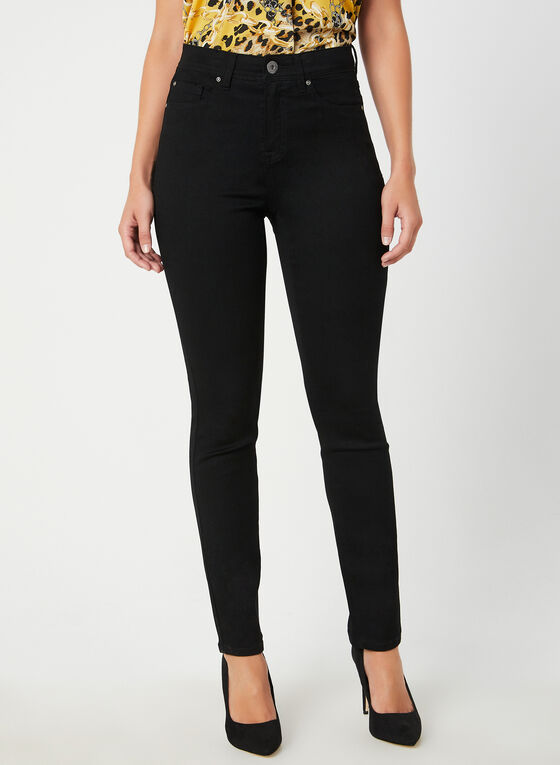 Signature Fit Straight Leg Jeans , Black