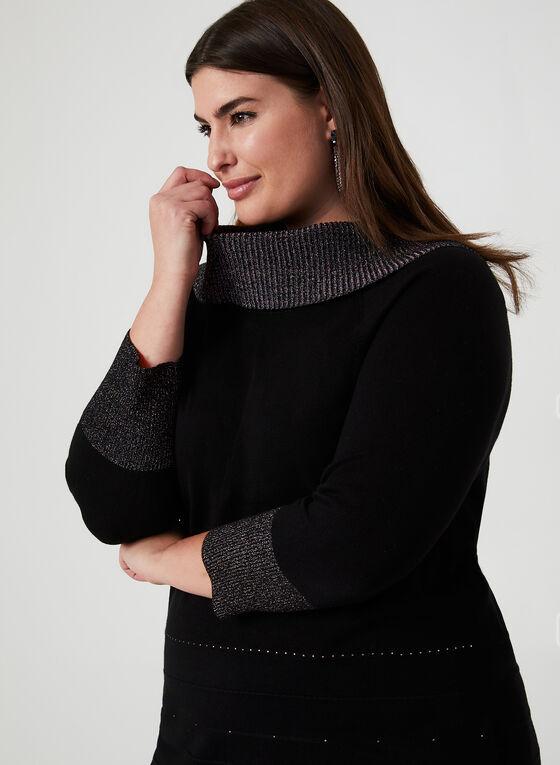 Lurex Marilyn Collar Sweater, Black