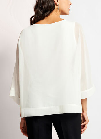 3/4 Sleeve Poncho Blouse, , hi-res